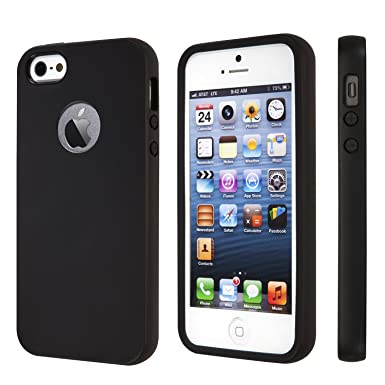 check out 2666a 4ffe8 totallee iPhone SE Case, iPhone 5s Case, Black Durable Shock Absorbing  Rubber Cover with Excellent Grip fits iPhone 5 / 5s/ SE - Tough &  Protective ...
