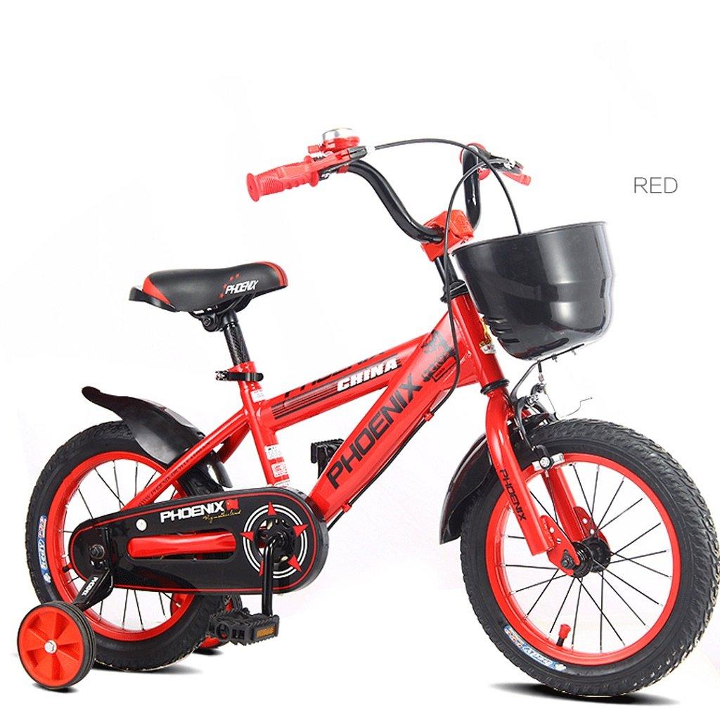 子供の自転車子供のペダル自転車の男の子の赤ちゃん2-10歳の女の子の赤ん坊の運送 (色 : 赤, サイズ さいず : 18 inches) B07D3RB4R2 18 inches|赤 赤 18 inches