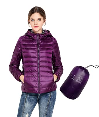 51968bf33 Oriental Pearl Big Girls Light Hooded Down Jacket Teens Packable ...