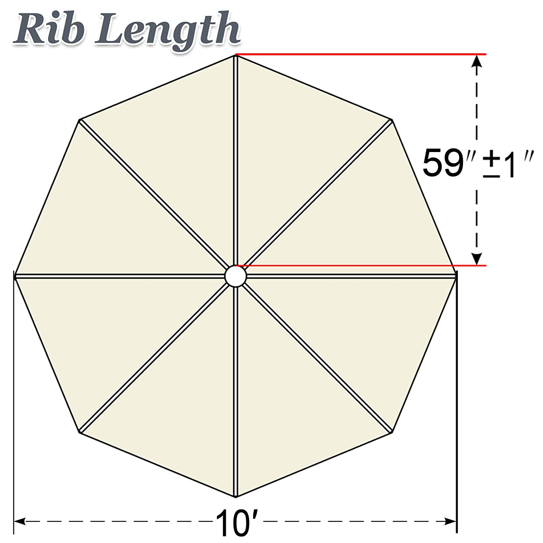 California Umbrella 8.5 Rd. Pagoda Market Umbrella, Silver Pole, 100 Acrylic Black and White Pacifica Fabric