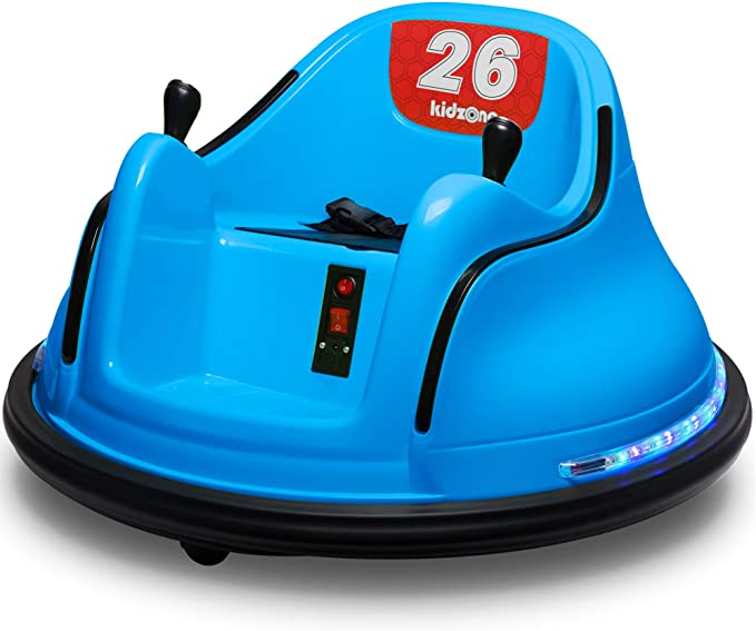 Amazon.com: Kidzone DIY Race #00 6V Kids Toy Electric Ride On Bumper Car Vehicle Remote Control 360 Spin ASTM-Certified, Blue: Home & Kitchen