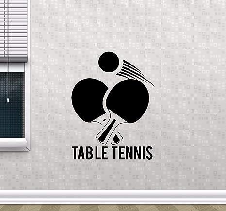 Wanghan Tenis De Mesa Vinilo De Pared Tatuajes De Ping Pong Diseño ...