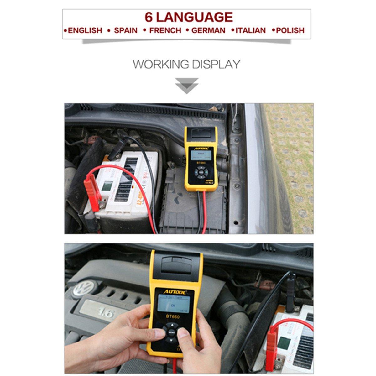 TuLanAuto 12V/24V Autool BT660 Battery Conductance Tester BT-660 Auto Battery Testers Automotive Diagnostic Tools For Heavy Duty Trucks, Light Duty Truck, Cars by TuLanAuto (Image #2)