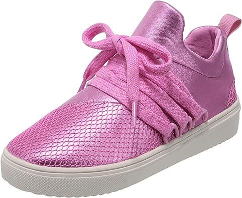 Brash Pink Girls' Drea Lace-Up Sneaker