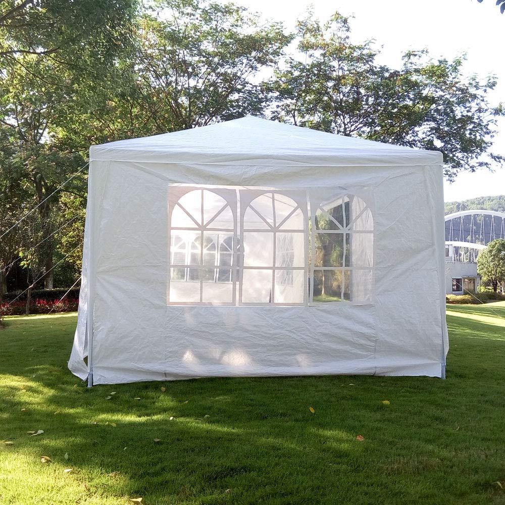 iBaste_S 3 x 9m ポータブル家庭用防水テント ホワイト   B07KCJQ98K