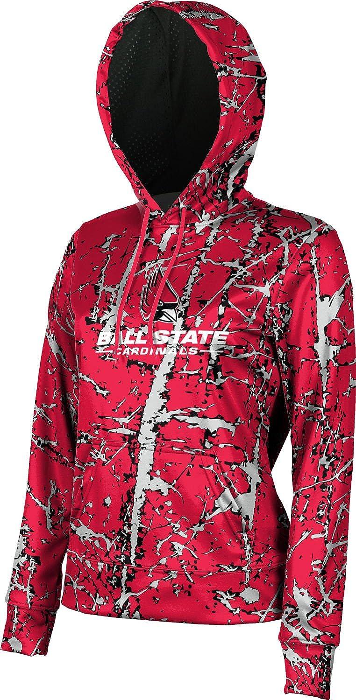 School Spirit Sweatshirt Ball State University Girls Pullover Hoodie Distressed