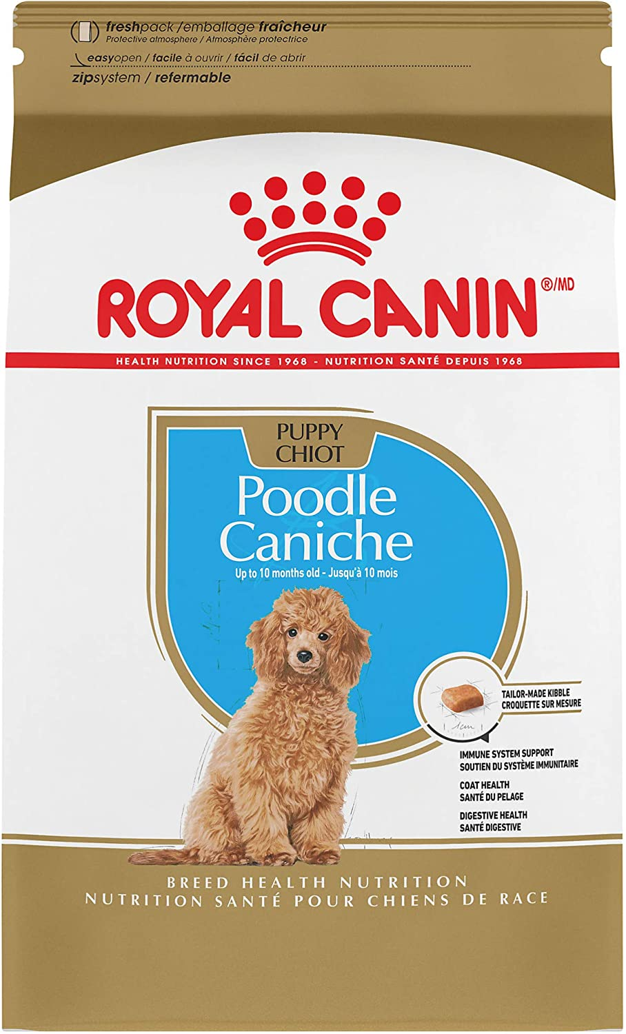 Royal Canin Poodle Puppy Breed Specific Dry Dog Food, 2.5 lb. bag