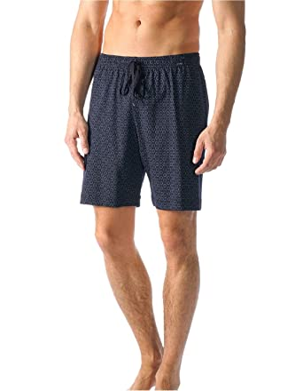 3a2b828c30b Mey 19950 Indigo Blue Circle Print Cotton Men's PJ Short at Amazon ...