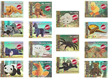 c7186214076 Image Unavailable. Image not available for. Color  TY Beanie Babies BBOC  Cards - Series 1 Retired (RED) ...