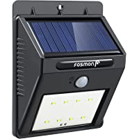 Solar Motion Sensor Light 8 LED, Fosmon [200 Lumen] Waterproof Outdoor Wireless Solar Powered LED Light, Night Security Detector for Front/Back Door, Backyard, Patio, Garage, Driveway, Shed