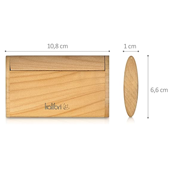 Lixiaq1 Bambus Visitenkartenhalter Holz Kartenhalter