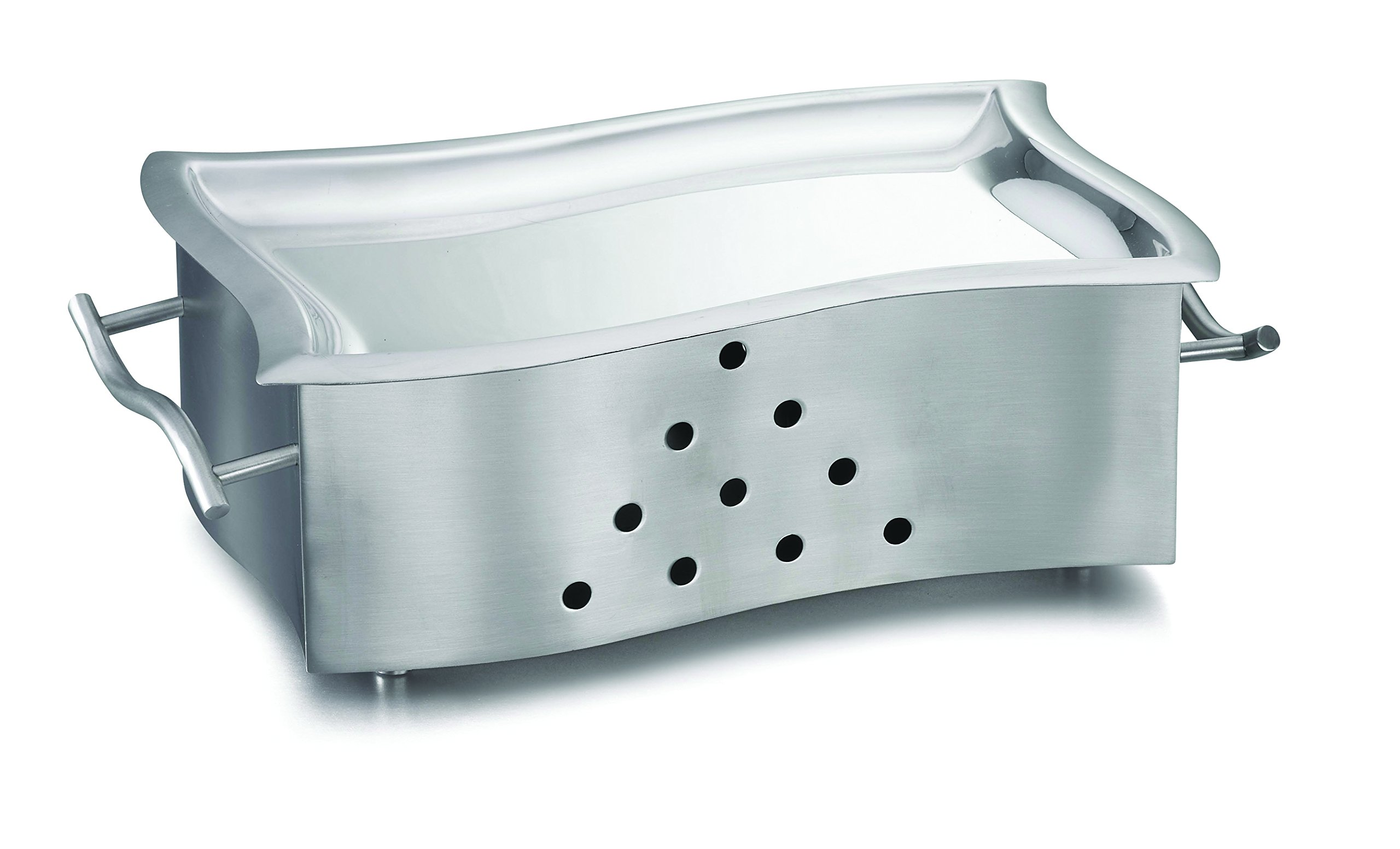 TableCraft Products SW127N Stainless Steel Rectangle Snack Warmer with Platter
