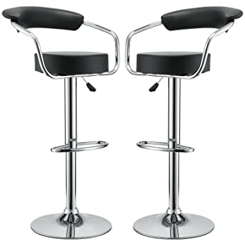 Modway Two s Diner Bar Stools in Black