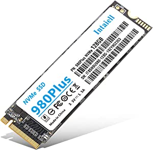 NVMe 128GB SSD- 3D NAND Flash PCIe Gen3.0X 4 M.2 2280 Internal Solid State Drive for Laptop, Ultrabooks, Desktop Computer (128GB)