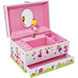 Lucy Locket Enchanted Fairy Tale Kids Musical Jewellery Box - Glittery Kids Music Box with Ring Holder