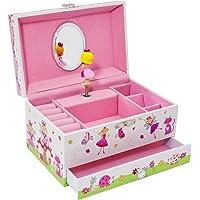Lucy Locket Caja de Música con diseño de Hadas mágicas - Joyero Musical para niñas