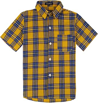 Spring&Gege - Camisas deportivas de manga corta para niño