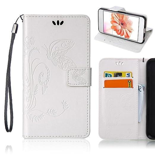 7 opinioni per Custodia Huawei P9 Lite, Fubaoda Farfalla Fiore Portafoglio PU Leather Flip