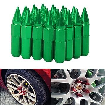 EKYAOMEI 20 tuercas de aluminio para rueda de 60 mm, 12 x 1,5/1,25, tuerca extensible de fijación de pinchos: Amazon.es: Coche y moto