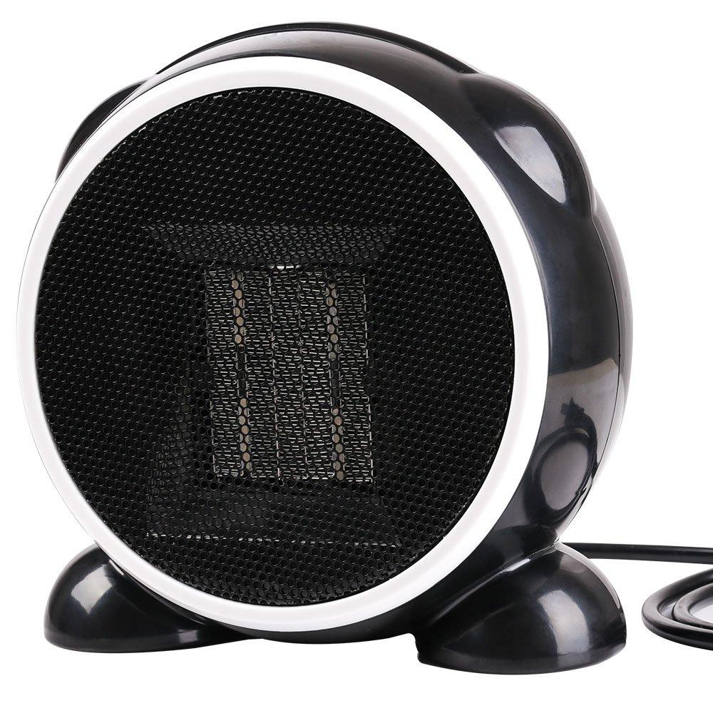 Portable Heater,Eden Babe Hand Warmer Mini Desktop Heater Electric Oscillating Heater Cool Black Heater for Home and Office Indoor Use
