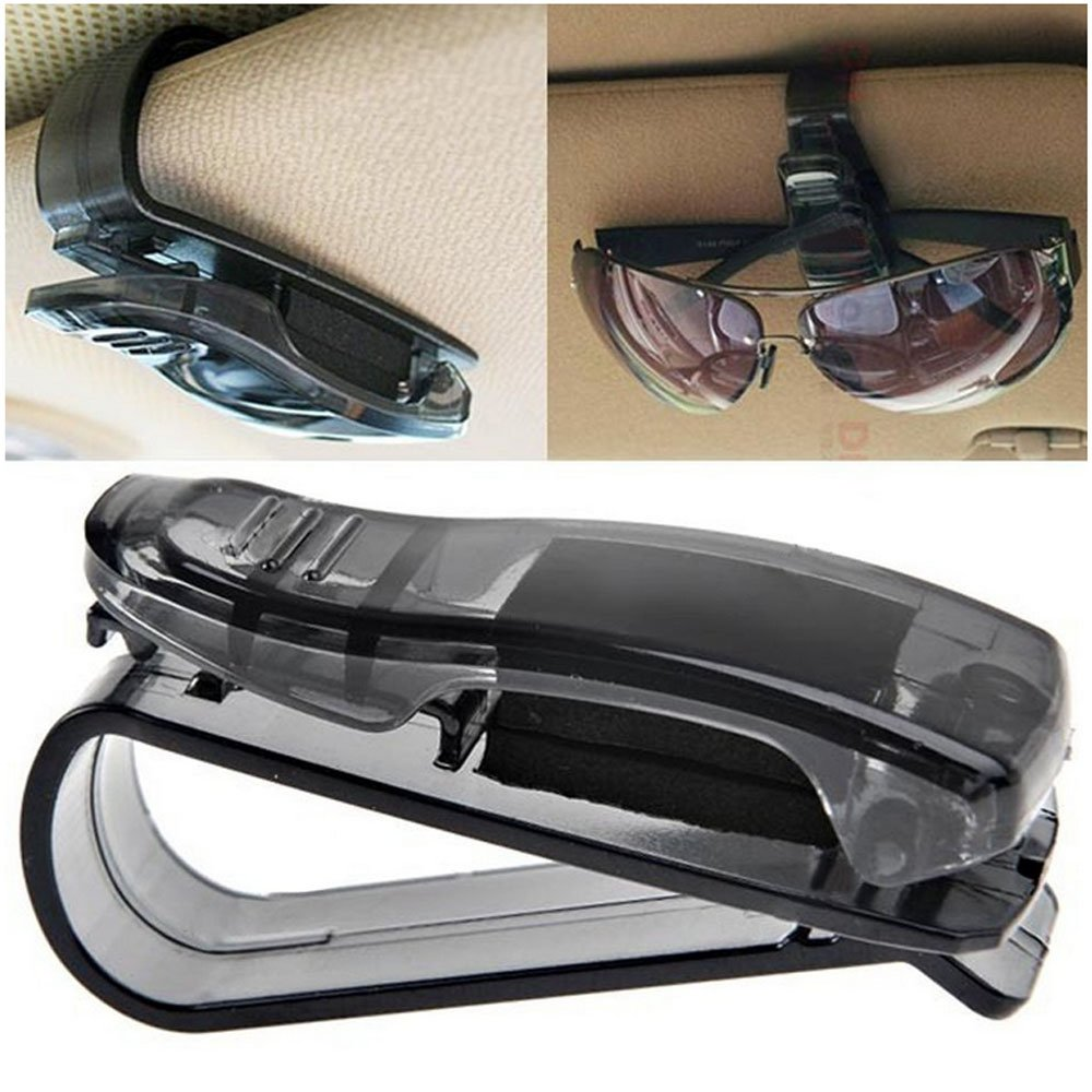 E Support/™ 2Pcs KFZ Auto Brillenhalter Sonnenbrillenhalterung f/ür LKW Sonnenblende Brillenablage Halter Clip