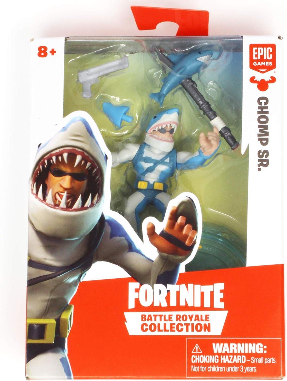 Chomp Set Fortnite Amazon Com Battle Royale Collection Chomp Sr Action Figure 2 Toys Games