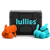 Lullies Reusable Ear Plugs for Sleeping — 2 Pairs (SkyBlue and Volcano) Noise Cancelling Silicone Earplugs