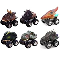 Deals on 6-Pack ZHMY Dinosaur Pull Back Cars