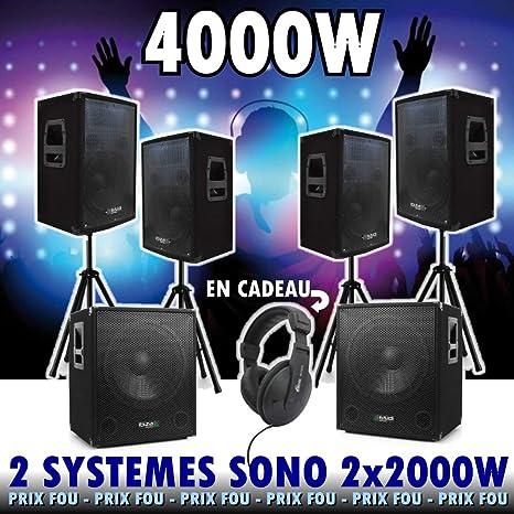 Sono 4000 - Pack de 2 cubos 1512 DJ (2 cajones, 4 altavoces, 4 ...