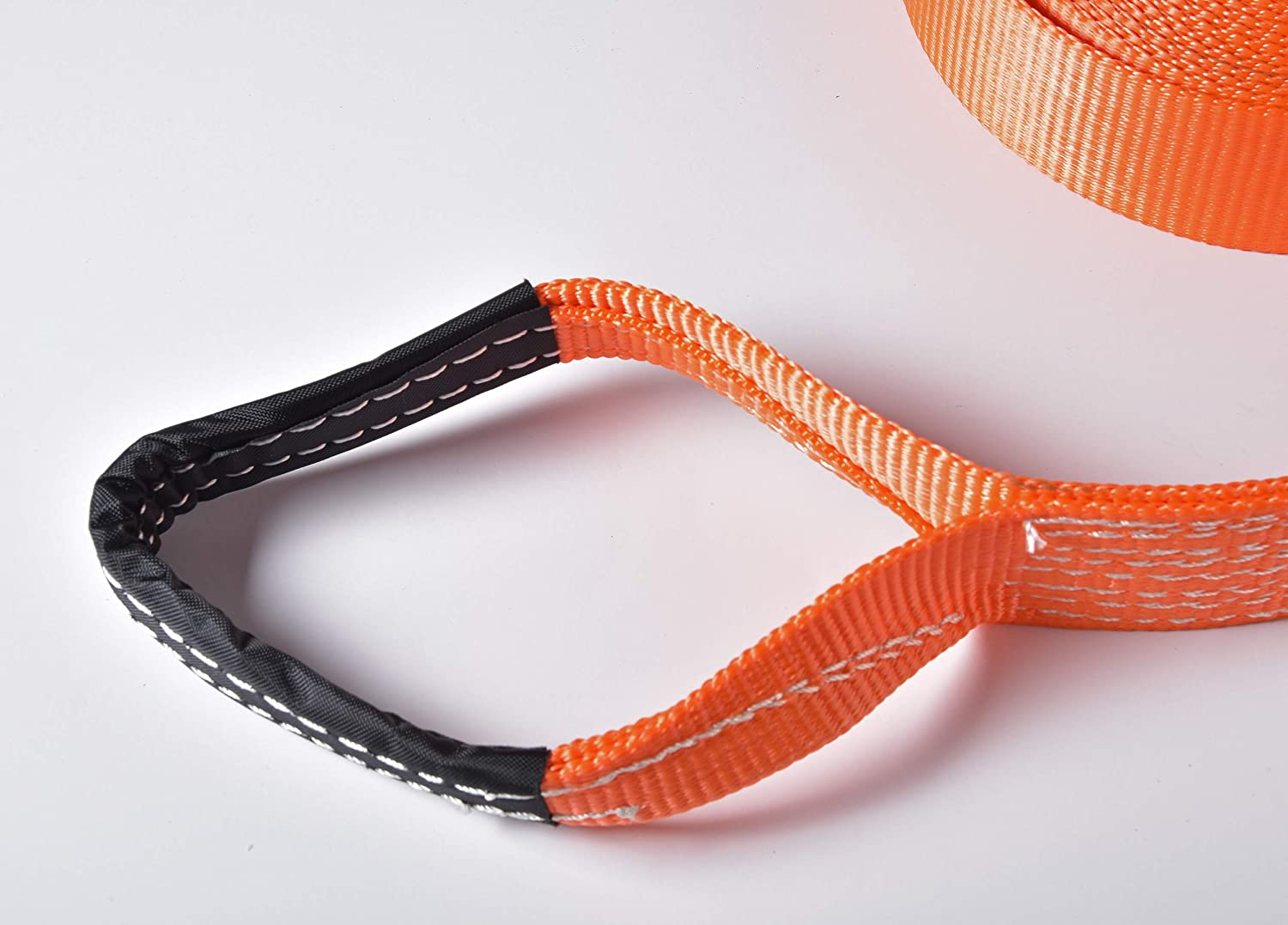 Black, 3in 30ft 3x30 HiGear 3 X 30 Tow Strap 6.5 Ton 3 Inch X 30 Ft Polyester Rope with 2 Loops 14,000lb Towing Recovery by Alfa Wheels