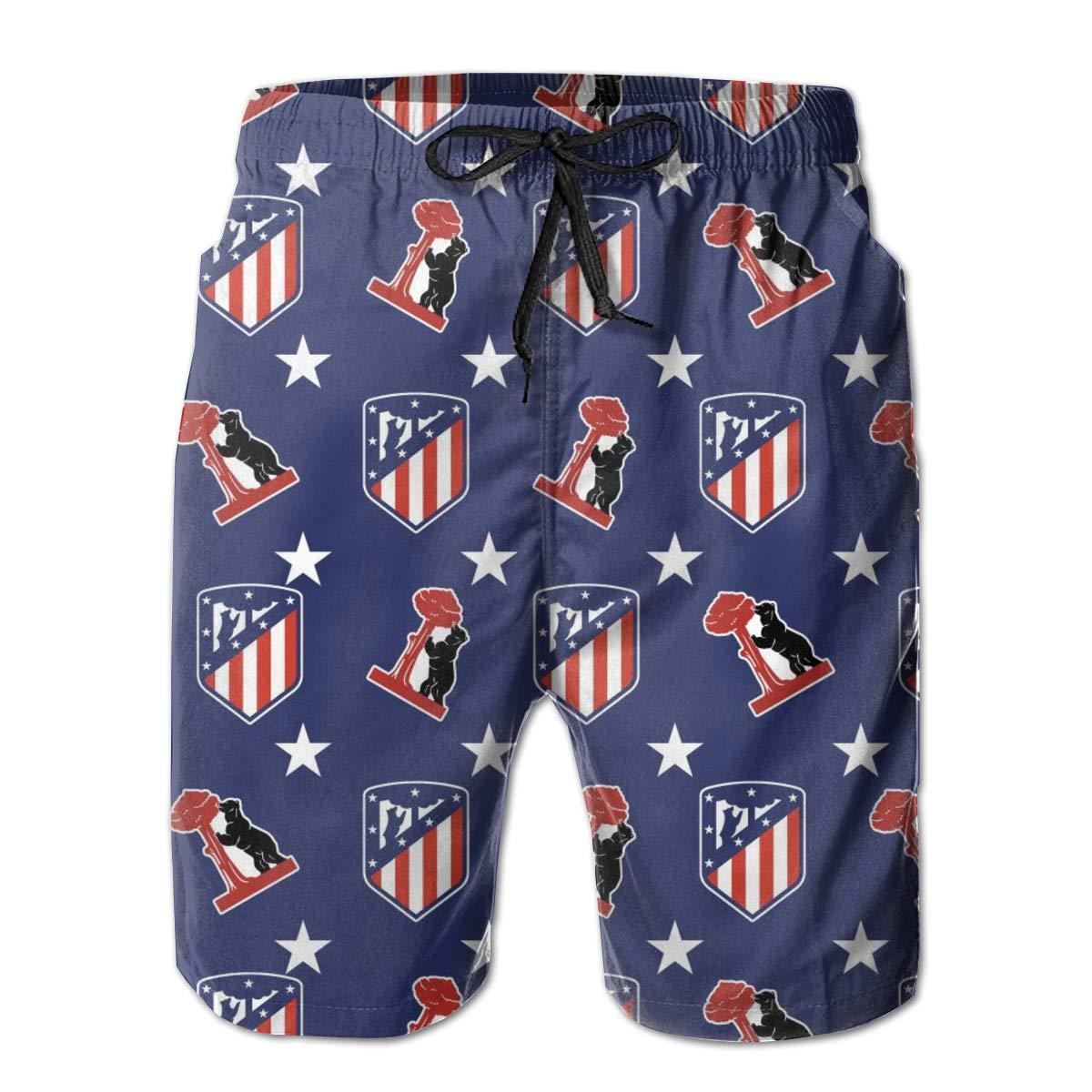 Essieours Atletico-Madrid Pantalones Cortos De Playa para ...
