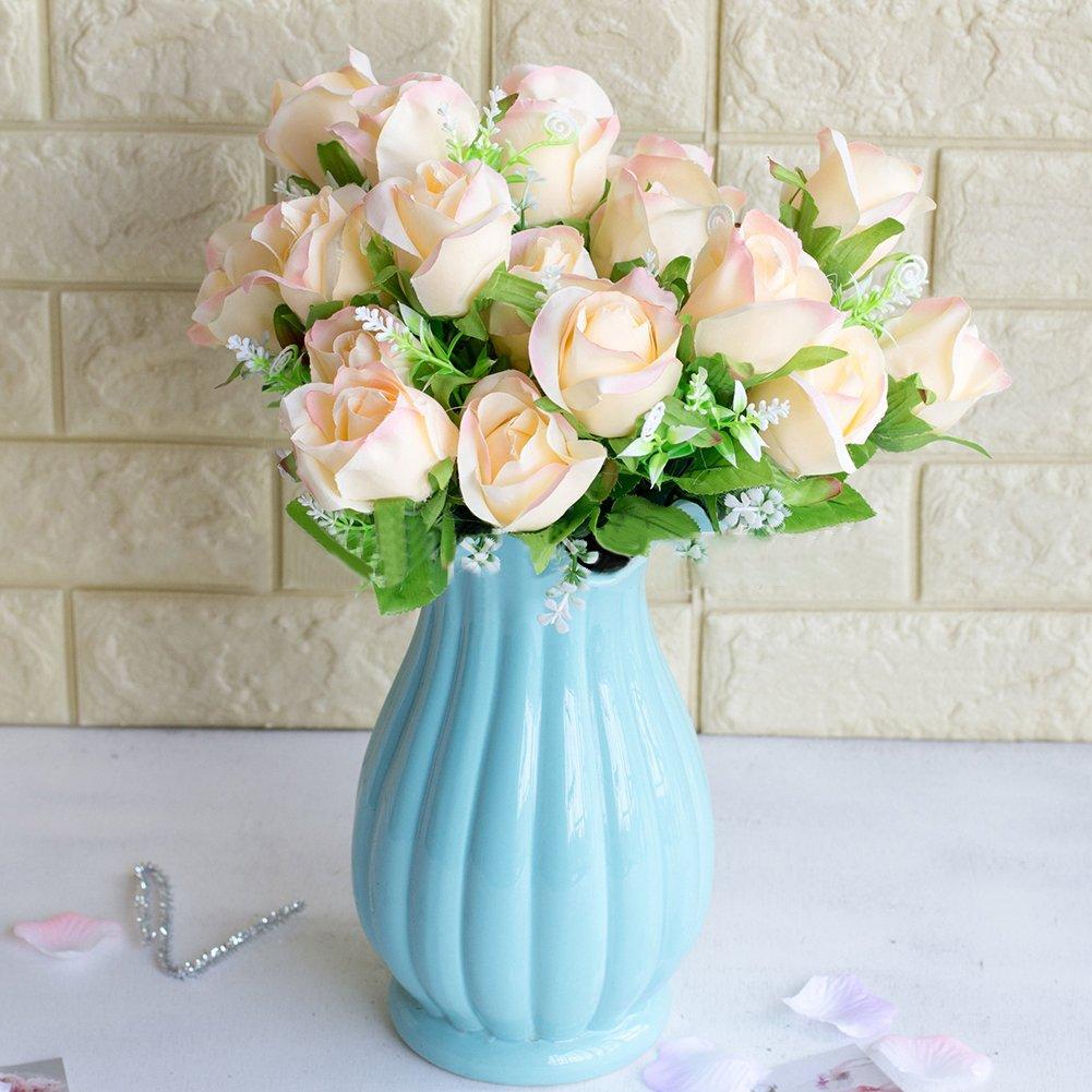 Finance Plan 大きなプロモーション1ブーケ バラの花 造花 宴会 結婚式 ロマンチック ホームデコレーション イエロー 6PYT56149F0XGG9305J759U05NS57B B07GZ93MG8 シャンパン