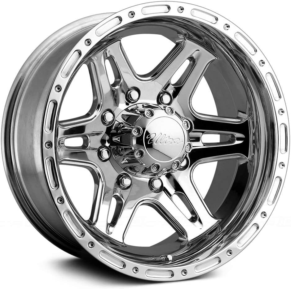 Ultra Wheel 208P Badlands Silver Wheel with Polished Finish 17x9//6x5.5mm, +12 mm offset