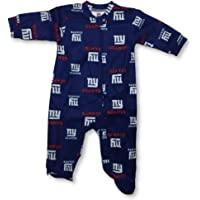 OuterStuff New England Patriots Infant Game Nap Teddy Fleece Zip-Up Coverall