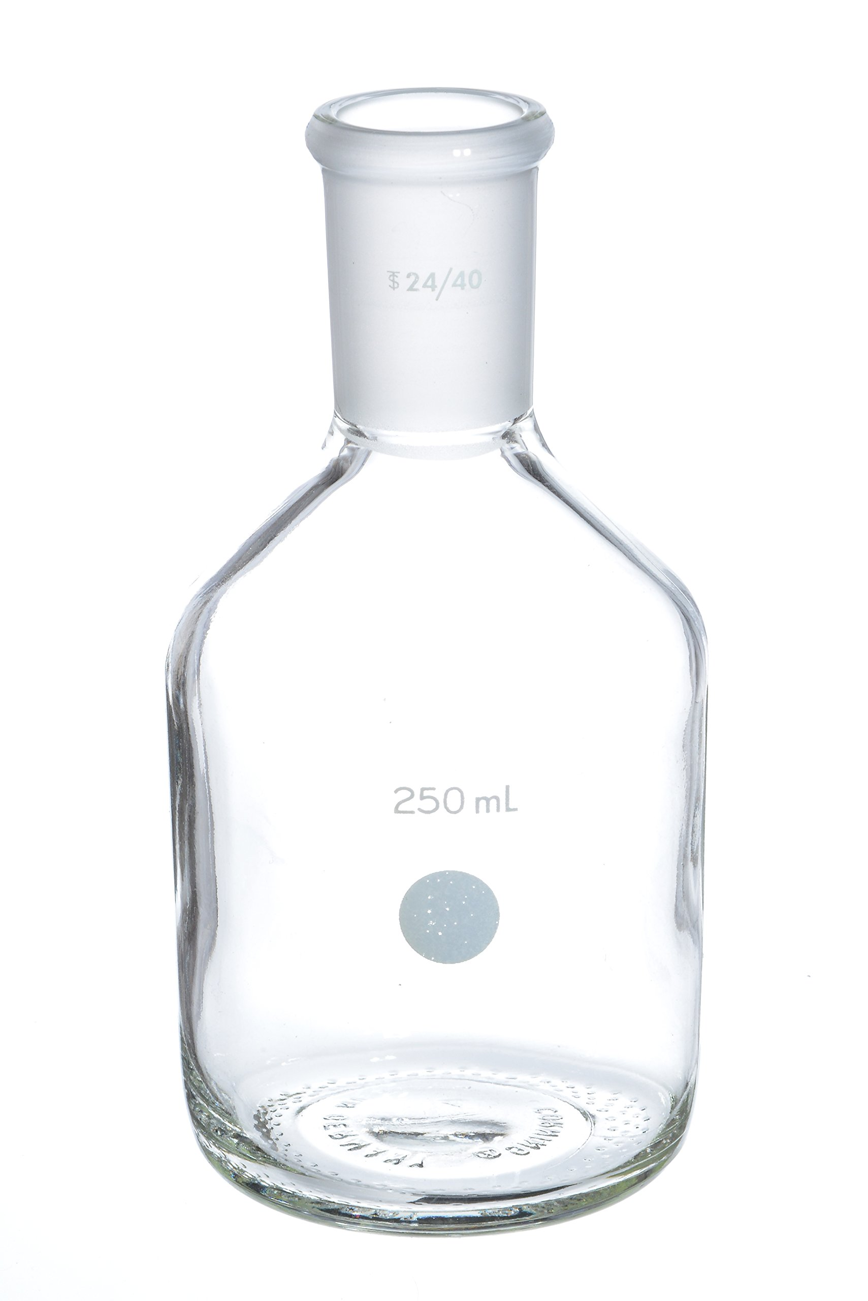 Wilmad-LabGlass LG-3460-100 Single Neck Bottle, 250mL, Standard Taper 24/40 Outer