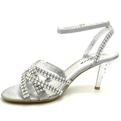 a24779a0de7b Soft Step Women s Party Diamante Wedding Bridal Evening Sandals Shoes  Bridesmaid Size F-517 (5 UK