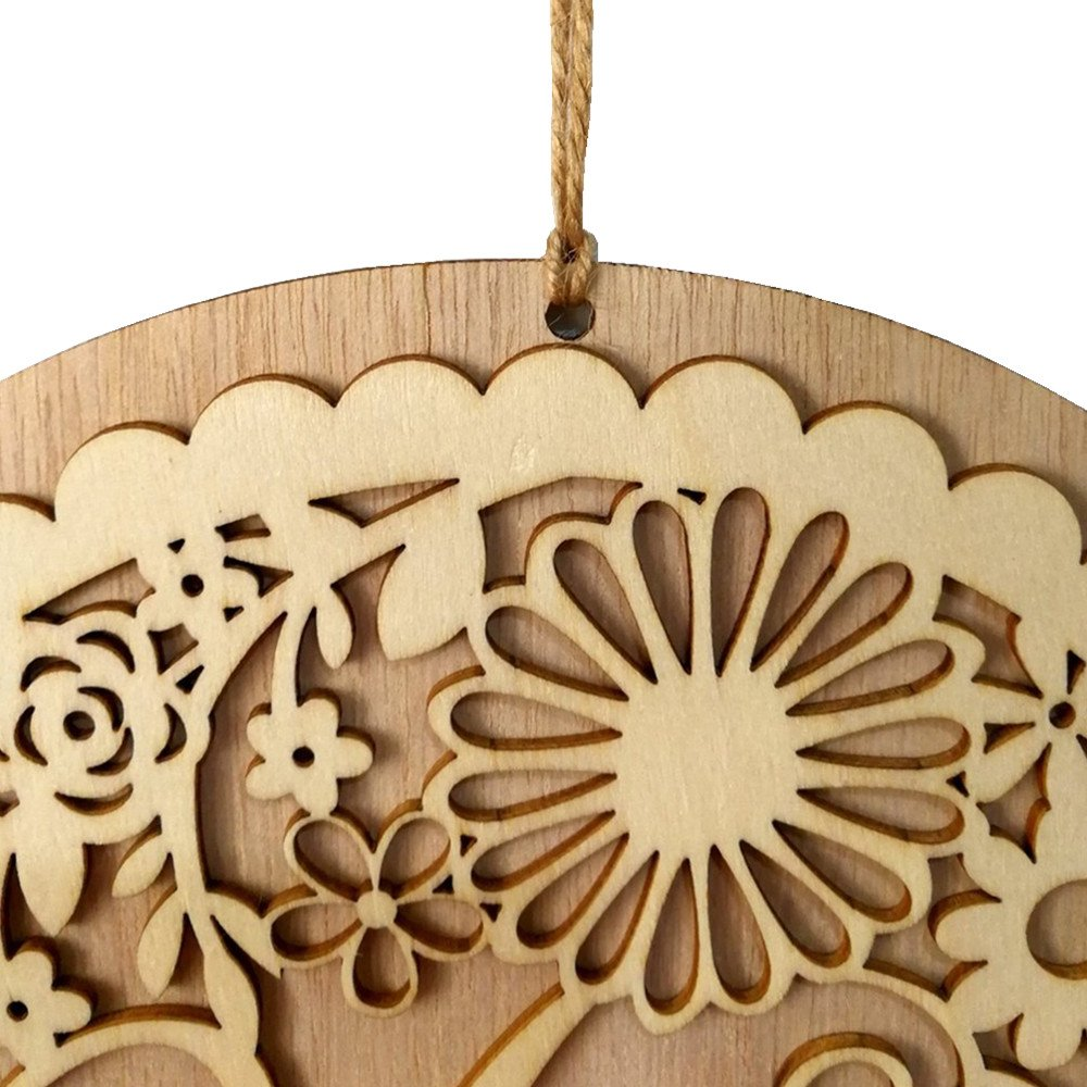 Wooden Hollow Out Mum Hanging Board Round Circle Mother's Day Gift Plank Hanging Plaque Wall Wood Sign Craft Decor Pendant by sd finger (Image #7)