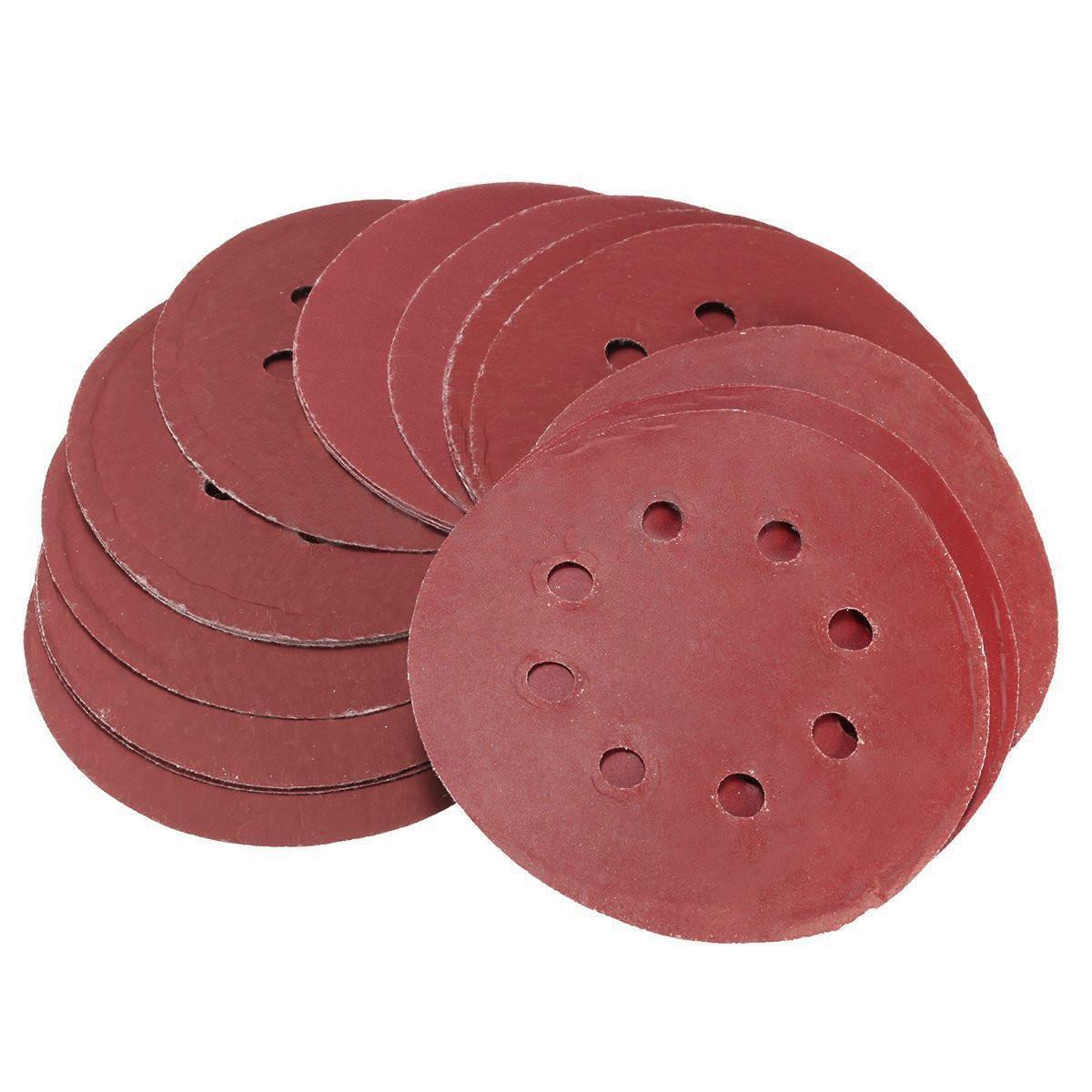TOOGOO(R) 25pcs 5 Inch Sanding Discs 125mm 8 Hole Sandpaper 800 1000 1200 1500 2000 Grit