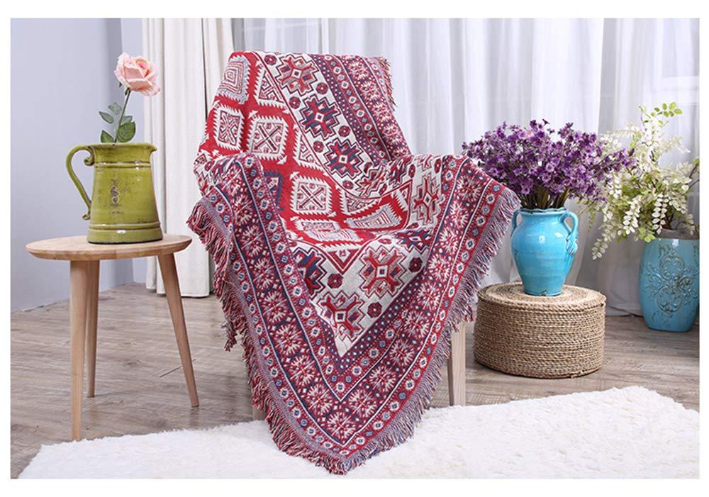 GAOWORD Baumwolldecke Dicke Farbe Atmungsaktiv Büro Freizeit Sofa Decken Warme Winter Gestrickte Hintergrund Decke Dekorative Bettwäsche,90Cm240Cm