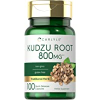 Kudzu Root   800mg   100 Extract Capsules   Non-GMO and Gluten Free Formula   Traditional Herbal Supplement   by Carlyle