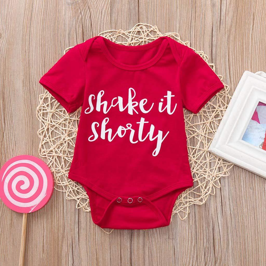 Tronet Baby onesie Newborn?Baby Girls Cute Letter Print Short Jumpsuit Bodysuit Romper Clothes?
