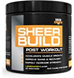 Extra Strength Post Workout Muscle Builder for Men and Women - BCAAs + Creatine + Glutamine + L-Carnitine - Supports Rapid Lean Muscle Growth & Recovery - 30 Servings - Sheer Strength Labs