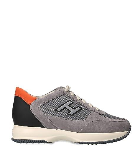 Hogan Hombre HXM00N0Q102KE4589L Gris Gamuza Zapatillas: Amazon.es: Zapatos y complementos