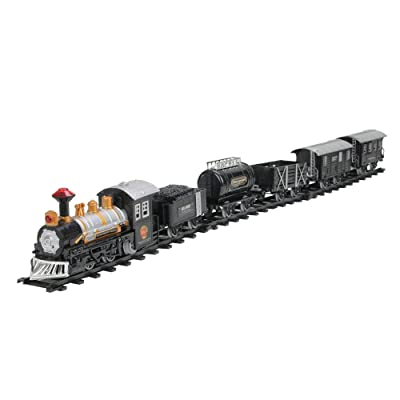 Northlight 17-Piece Consumate Model Battery Operated Lighted and Animated Classic Train Set with Sound: Toys & Games