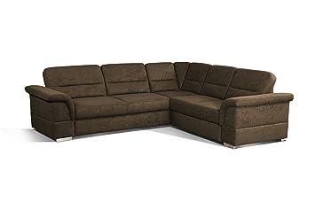 CAVADORE Eck Sofa Tuluza Mit Bett/Moderne Eck Couch Mit Schlaffunktion Und  Stauraum