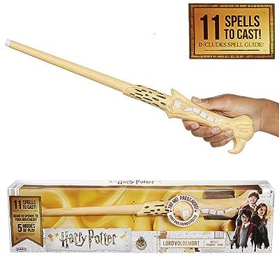 Jakks Pacific- Harry Potter - Varita mágica con hechizos - Voldemort,, Talla única (39837): Juguetes y juegos