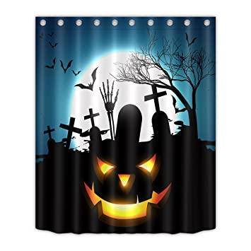 Image Unavailable Not Available For Color LB Halloween Shower Curtain Set