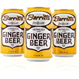 Barritt's Original Ginger Beer, Non-Alcoholic Soda Cocktail Mixer, 12 fl oz Cans, 24 Pack
