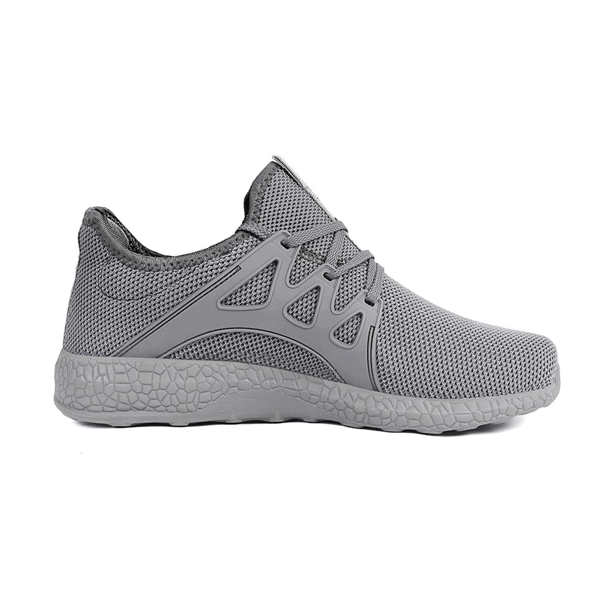 Feetmat Womens Sneakers Ultra Lightweight Breathable Mesh Walking Gym Tennis Athletic Running Shoes B0769SD5J5 9.5 M US|Grey