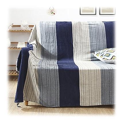 Tapiz Sofá Toalla Colgantes de pared Simple Simple Moderno Estilo nórdico Línea azul y blanca para